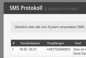 SMS Protokoll